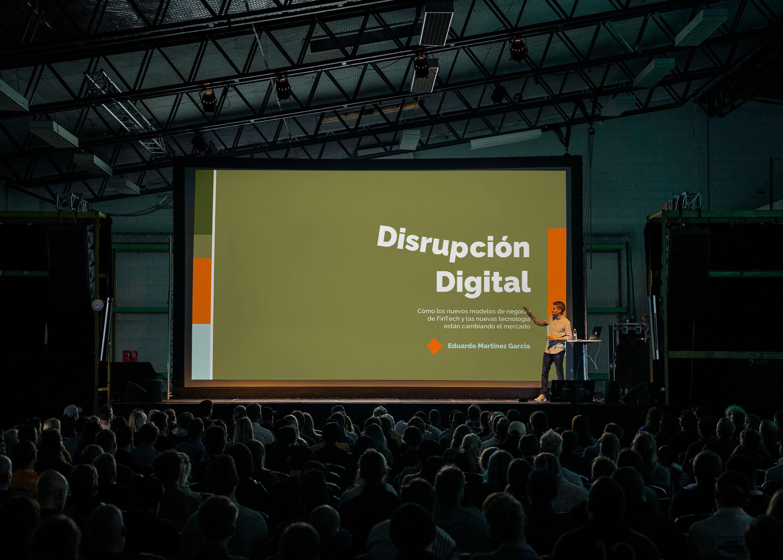 Presentation design shown in conference setting