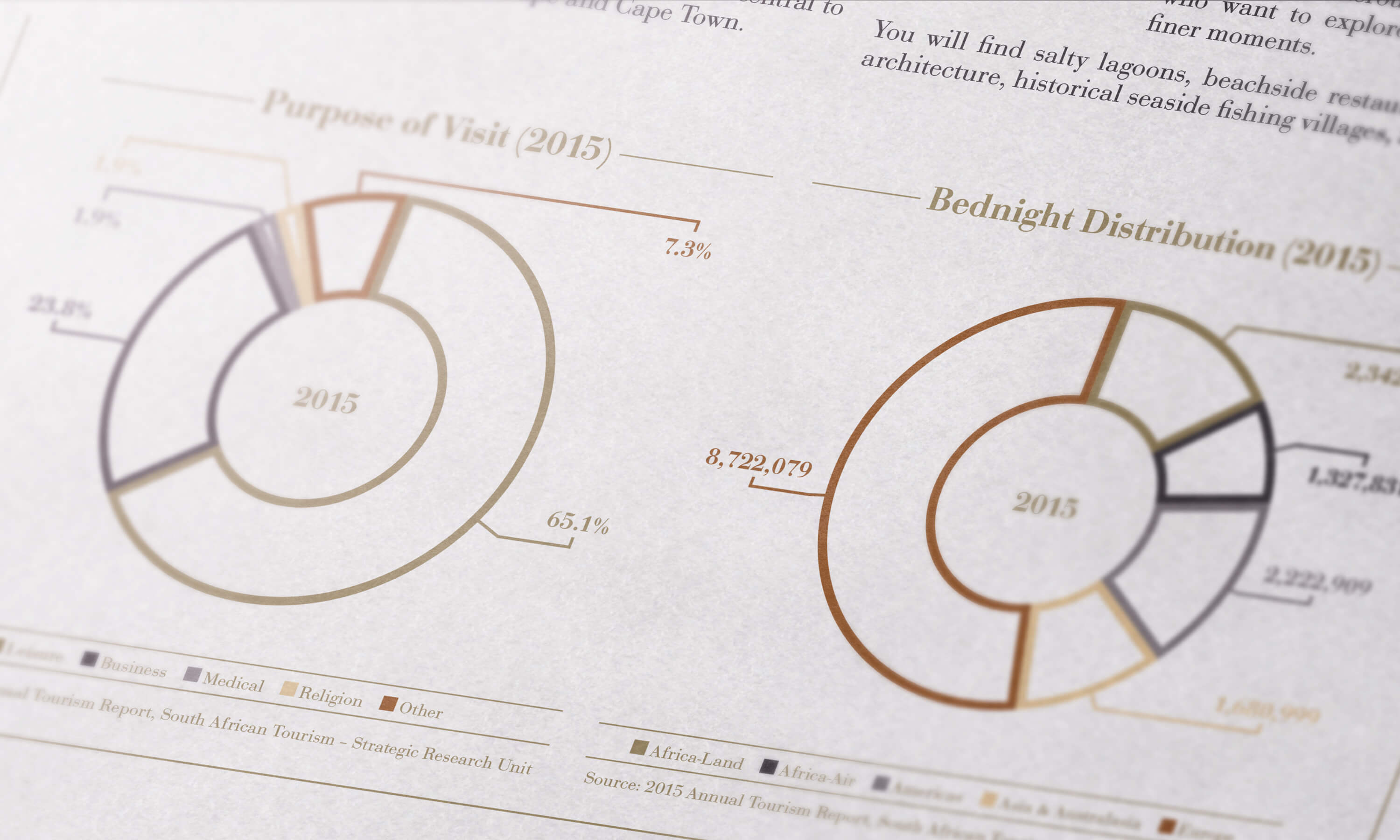 Close up of internal graphics for the JLL Arabella investment memorandum design