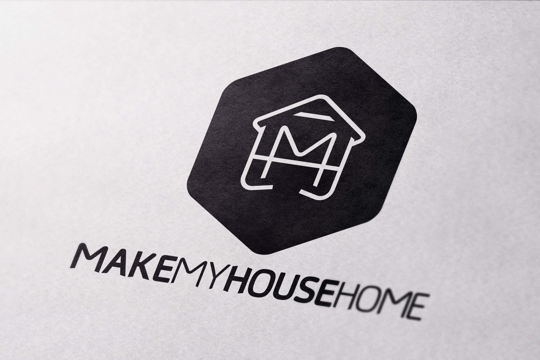 Close up of the Make My House Home logo design