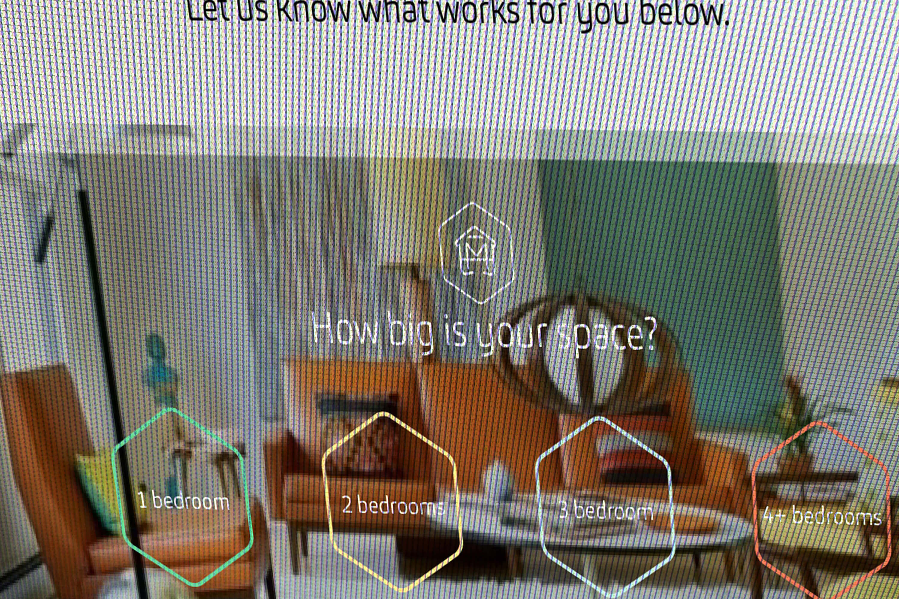 Close up of Make My House Home packages online questionnaire design