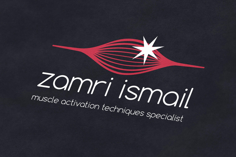 Zamri Ismail logo design on dark paper background
